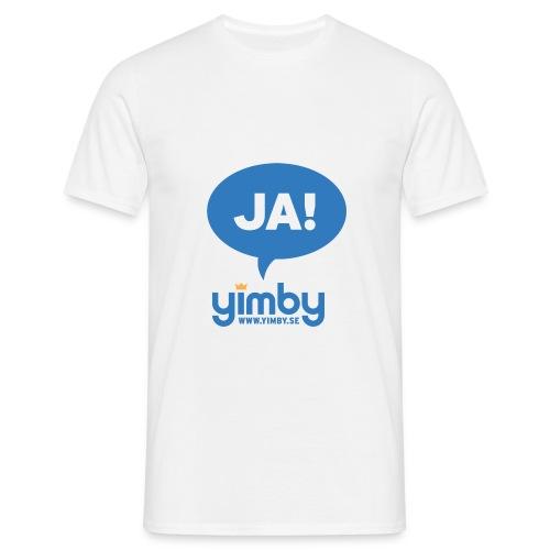 Yimby.se-logotyp med JA! - T-shirt herr