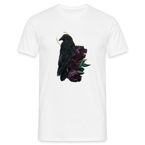crow and flowers - Maglietta da uomo