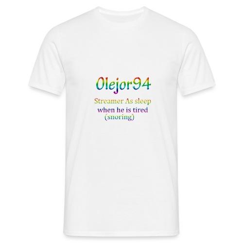 Olejor94 sover snorken English - T-skjorte for menn