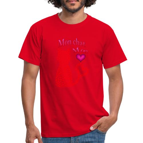 Mon chat mon coeur - T-shirt Homme