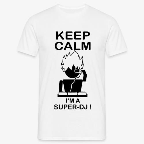 KEEP CALM SUPER DJ B&W - T-shirt Homme