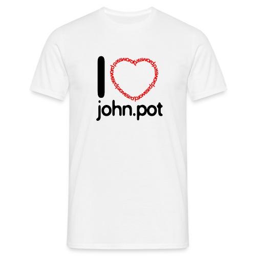 I Love John.pot - Men's T-Shirt