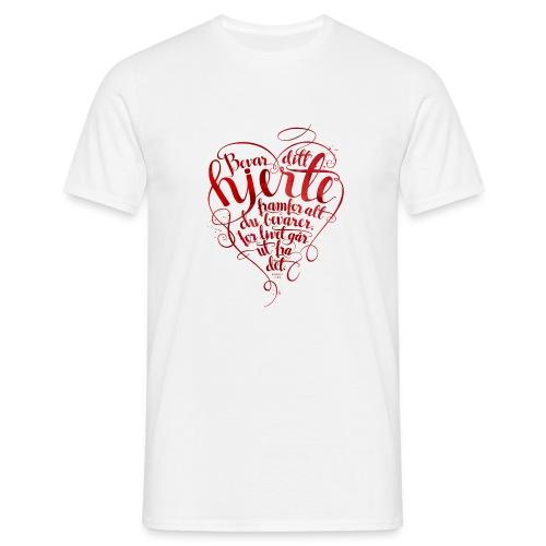 Bevar ditt hjerte - T-skjorte for menn