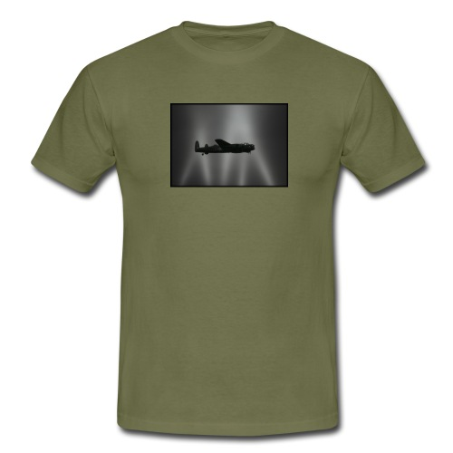 85lancasterwithsearchlights120dpi - Men's T-Shirt