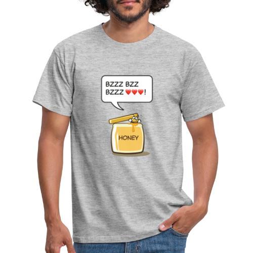 Bi i honungsburk - T-shirt herr
