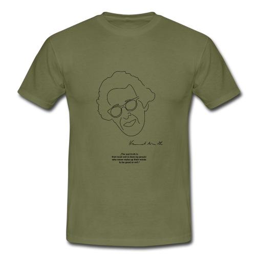 Hannah Arendt Sketch and Quote black - Männer T-Shirt