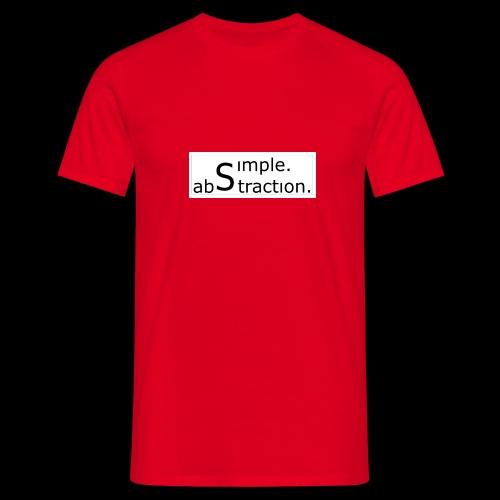 logo simple. abstraction. s/w - Männer T-Shirt