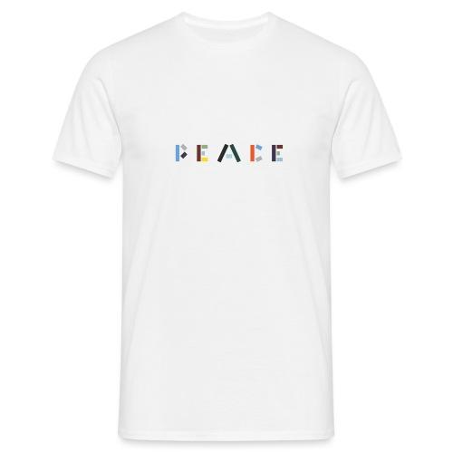 Peace på skrift - Herre-T-shirt