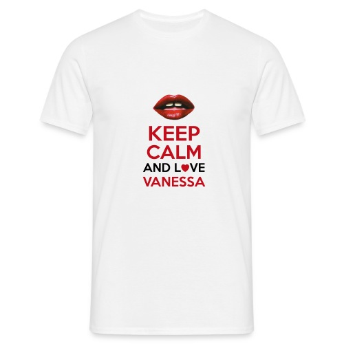 Keep calm and love Vanessa - T-shirt Homme