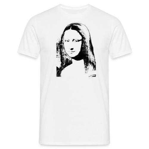mona lisa png - Männer T-Shirt