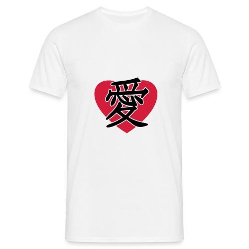 JapaneseLoveSign&Heart - Herre-T-shirt