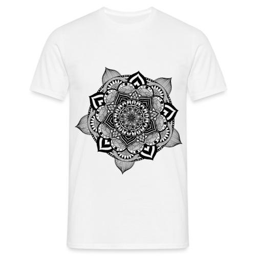 mandala fiore di loto - Maglietta da uomo