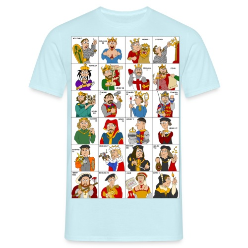 Kings & Queens of England (Double Sided) - Men's T-Shirt