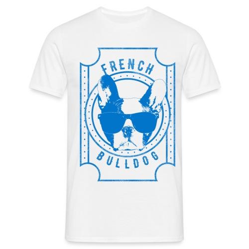 Franse Bulldog Blauw - Mannen T-shirt