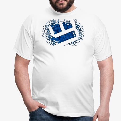 w4sted v2 logo blue - Men's T-Shirt