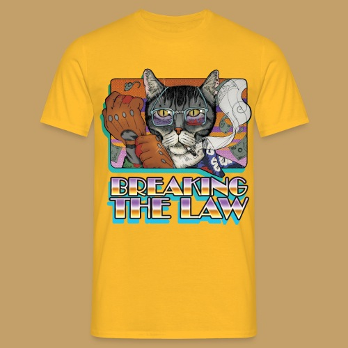 Crime Cat- Breaking the Law - Koszulka męska