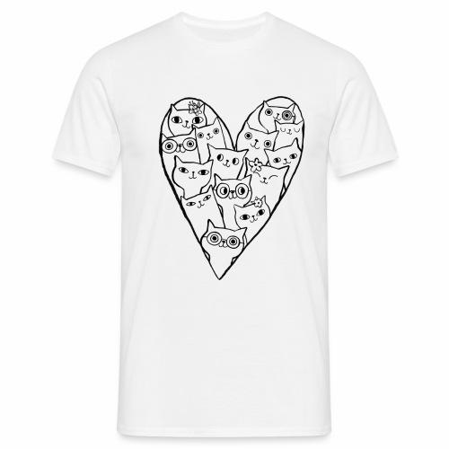 I Love Cats - Men's T-Shirt