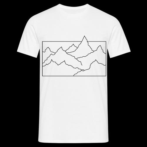 Kontur Gebirge schwarz - Männer T-Shirt