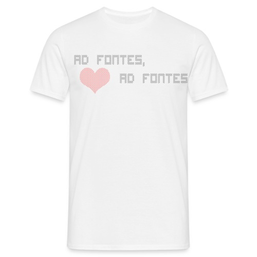 kjreadfontestransparent - T-skjorte for menn