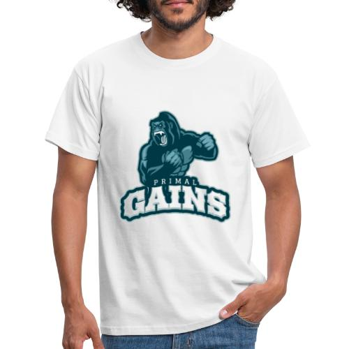 Primal Gains Gorilla - Men's T-Shirt