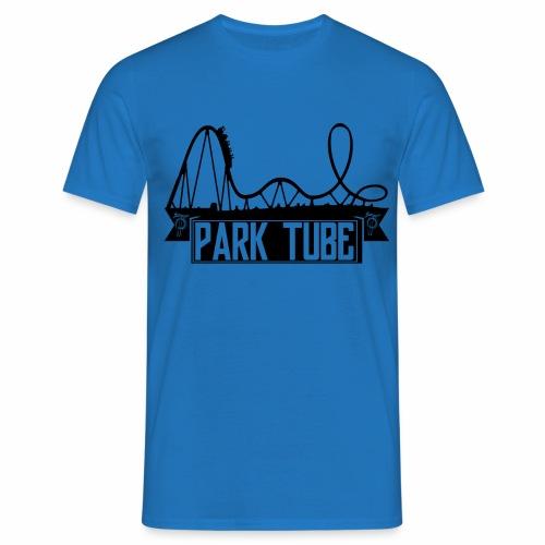 ParkTube Banner mit Achterbahn schwarz - Männer T-Shirt