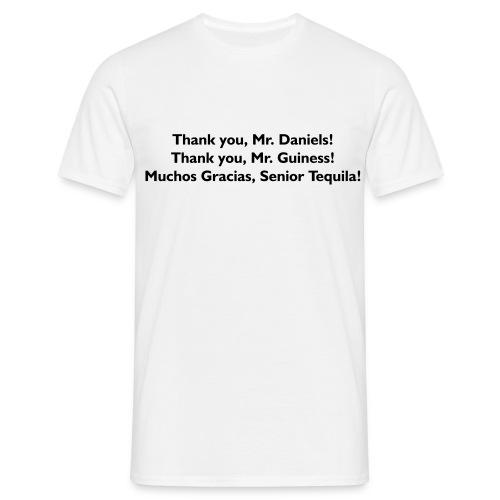 Thank You Mr. Alcohol - PrintShirt.at - Männer T-Shirt
