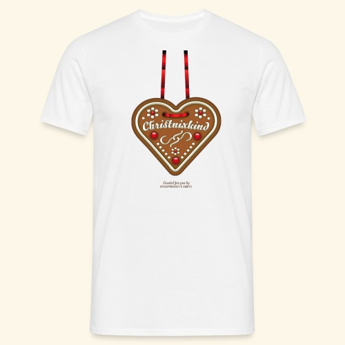 Weihnachts T Shirt Christnixkind Lebkuchenherz - Männer T-Shirt