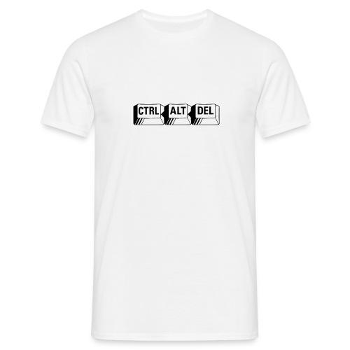 ctrl alt del white - Men's T-Shirt
