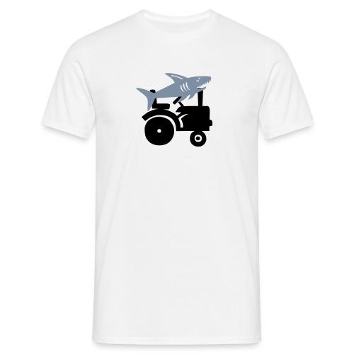 sharksonatractor - Men's T-Shirt