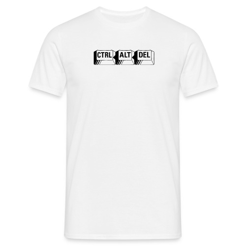 ctrl alt del white - Men's T-Shirt
