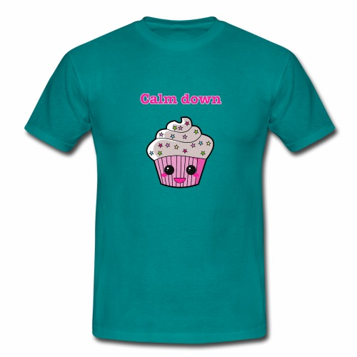 Calm Down Cupcake - Men's T-Shirt