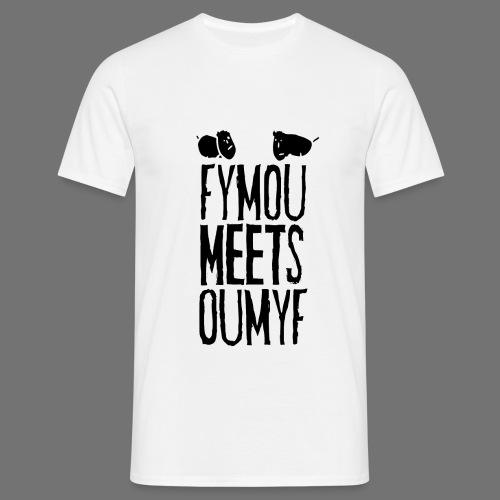 Fymou täyttää Oumyf (musta täyteen print) - Miesten t-paita