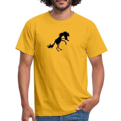 steigendes Pferd - Männer T-Shirt
