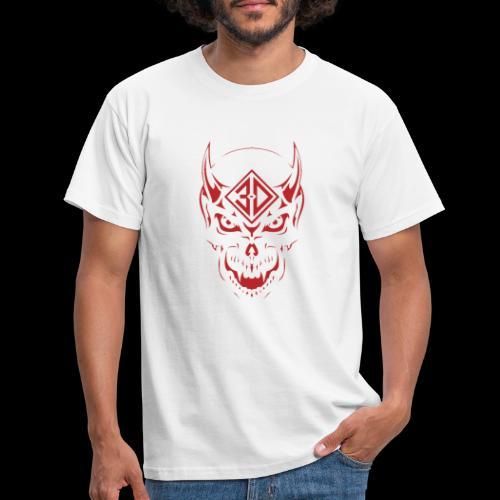 devil skull red - T-shirt Homme