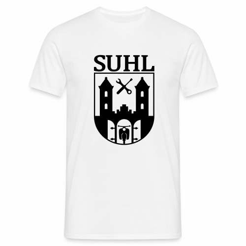Simson Suhl coat of arms with text - Men's T-Shirt