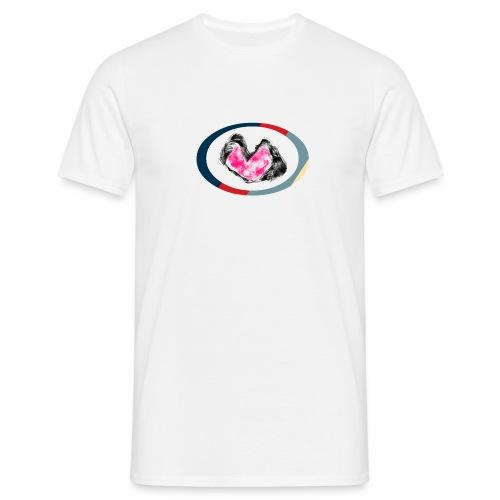 Abstract Heart Circle - T-skjorte for menn