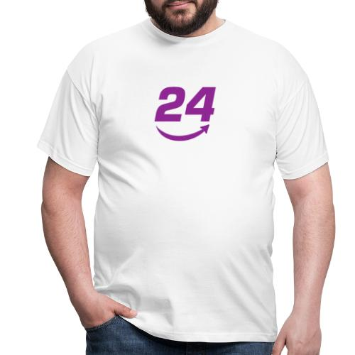 HorseDeal24 Logo Violett - Männer T-Shirt