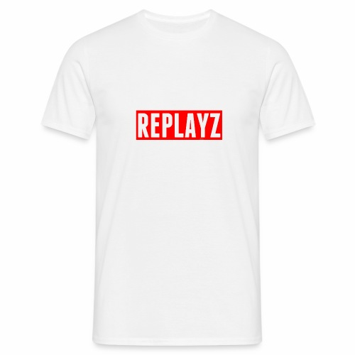 Replayz Red Box Logo - Men's T-Shirt