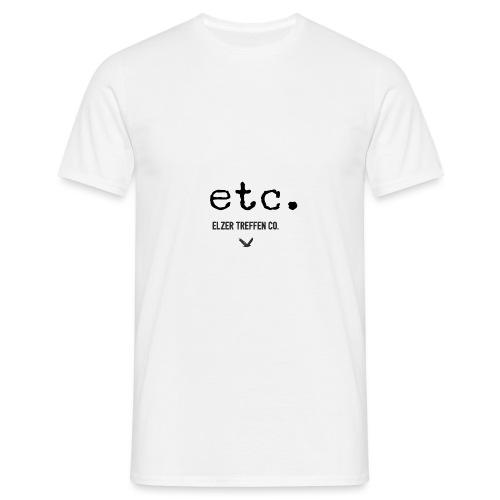 ELZER TREFFEN ETC black - Männer T-Shirt