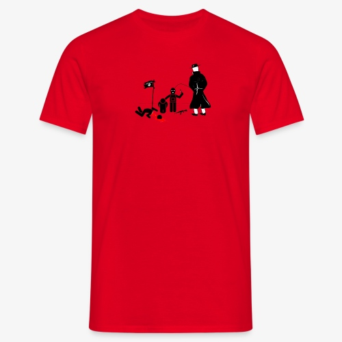 Pissing Man against terrorism - Männer T-Shirt