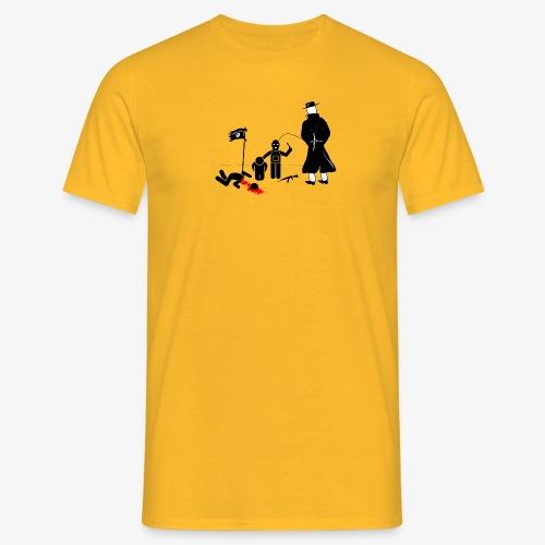 Pissing Man against terrorism - Männer T-Shirt
