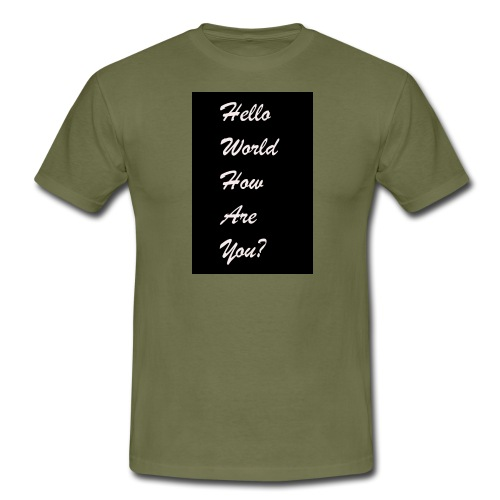 hello world - Männer T-Shirt