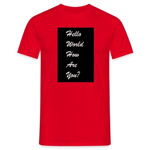 hello world - Männer T-Shirt