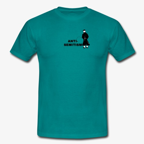 Pissing Man against anti-semitism - Männer T-Shirt