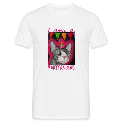 I am a PartyCat - Mannen T-shirt