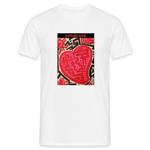 #truelove - Men's T-Shirt