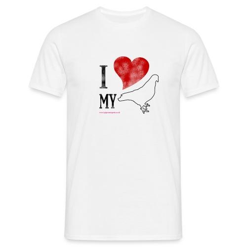 i love my pigeon - Men's T-Shirt
