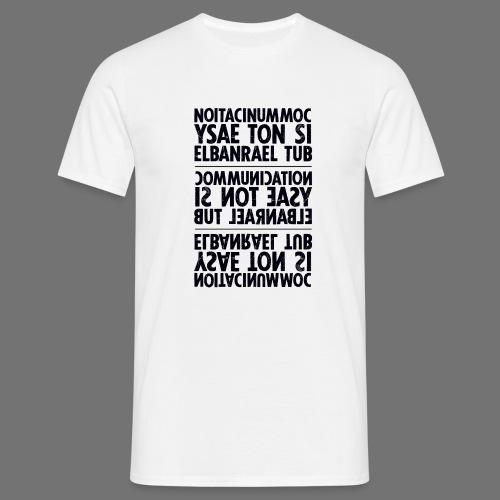 viestintä musta sixnineline - Miesten t-paita