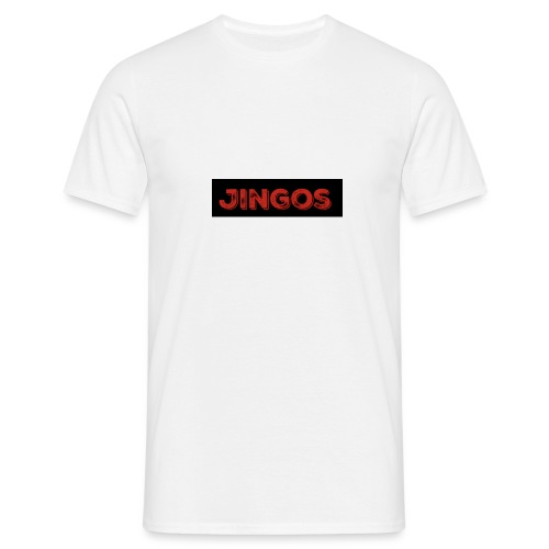 Jingos tee - Black on white - Herre-T-shirt