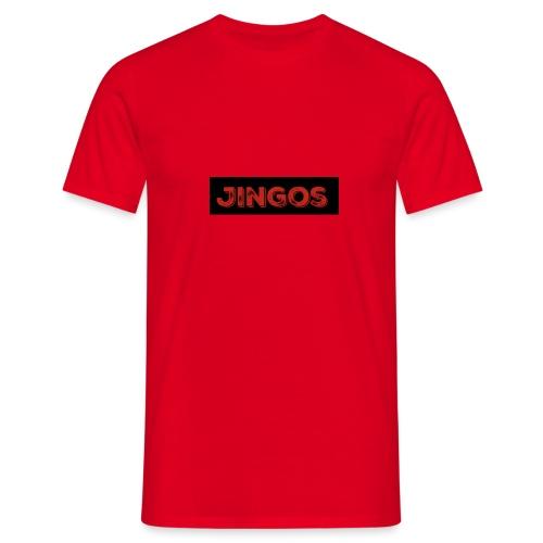 Jingos tee - Black on white - Herre-T-shirt